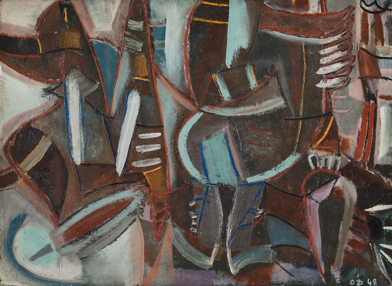 olivier debre - sans titre 1948 peinture