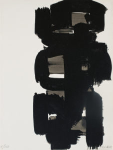 pierre soulages - ink paper