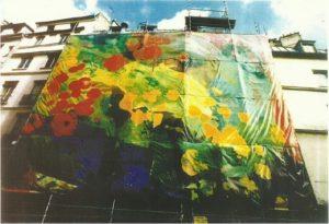 roswitha doerig - le printemps painted tarpaulin 1986