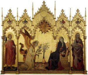 simone martin lippo memmi - annonciation entre saint ansan et saint maxima 1333 newslette -art comes to you 8