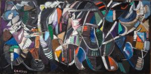 andre lanskoy - composition sur fond noir 1947 ca newsletter art vient a vous 18