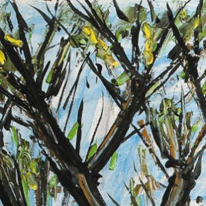 bernard buffet - 1997 la baume painting detail 1