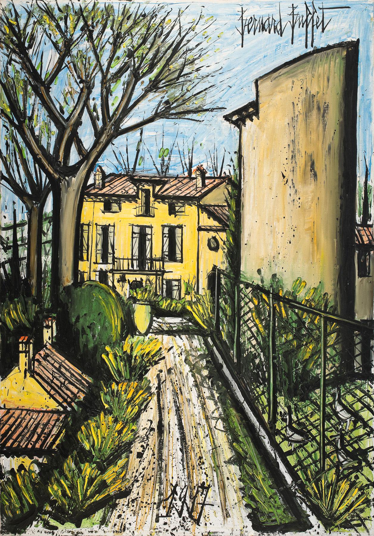 bernard buffet - 1997 la baume painting