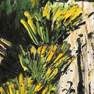 bernard buffet - 1997 la baume peinture detail 2