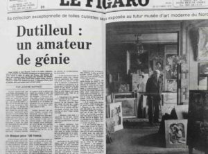 bernard buffet - figaro article dutilleul un amateur de genie 1979
