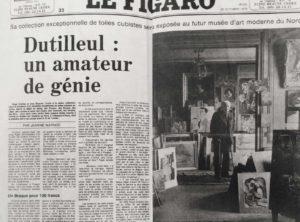 bernard buffet - figaro press dutilleul un amateur de genie 1979