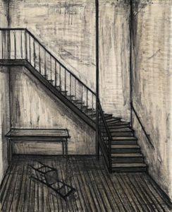 bernard buffet - painting l escalier 1956