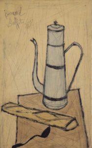 bernard buffet - painting la cafetière 1948
