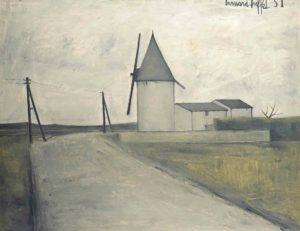 bernard buffet - painting le moulin au vent 1951
