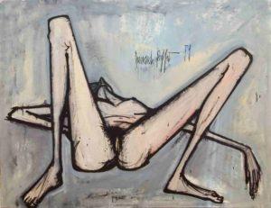 bernard buffet - painting nu couché 1959