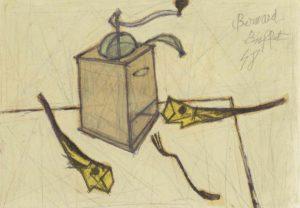 bernard buffet - peinture hareng saurs et moulin a cafe 1948