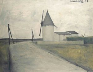 bernard buffet - peinture le moulin au vent 1951