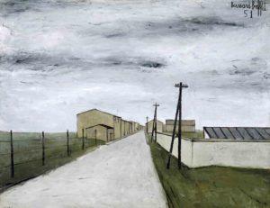 bernard buffet - peinture paysage de banlieue 1951