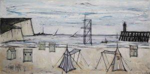 bernard buffet - peinture plage 1956