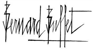bernard buffet - signature officielle