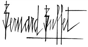 bernard buffet - signature