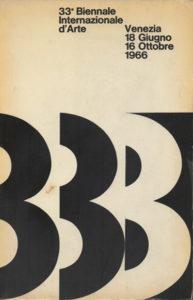 biennal - affiche 33 venise italie 1966
