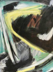 gerard schneider - opus 65 b painting 1954 detail