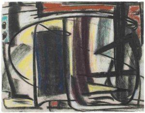 gerard schneider - paper 1949 untitled charcoal