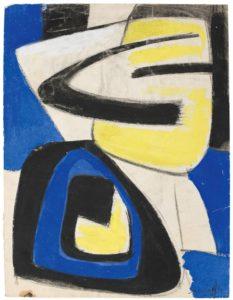 gerard schneider - paper 1949 untitled gouache chalk