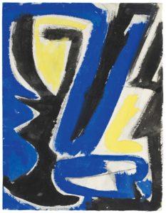 gerard schneider - paper 1949 untitled gouache