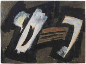 gerard schneider - paper gouache untitled 1950