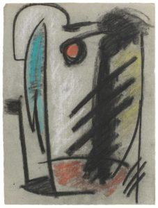 gerard schneider - paper untitled 1949 charcoal chalk