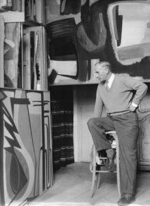 gerard schneider - portrait atelier rue armand moisant paris 1952