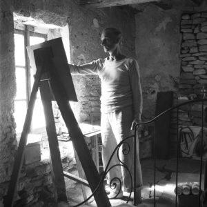gerard schneider - portrait gordes atelier 1947 ca