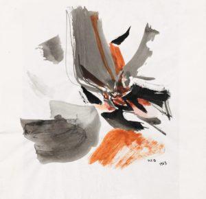 huguette arthur bertrand - gouache untitled 1963