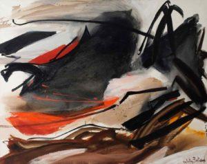 huguette-arthur bertrand painting - cela qui gronde 1967 catalog 2018