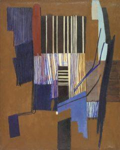 huguette arthur bertrand - painting composition 1955