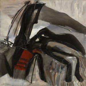 huguette arthur bertrand - painting ecume noire 1966