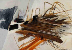 huguette arthur bertrand - painting lohengrin 1961