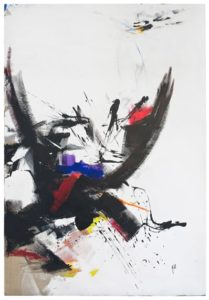 jean miotte - acrylic untitled 1973