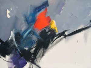 jean miotte - acrylic untitled 1983