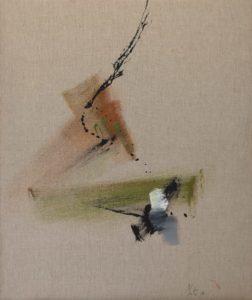 jean miotte - acrylique toile sans titre 1979