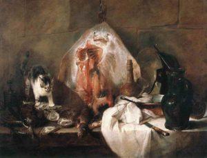 jean simeon chardin - painting la raie 1725 1726