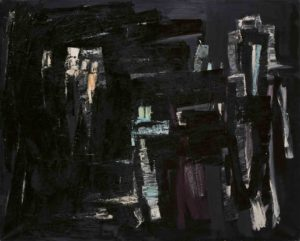 lois frederick - painting oil untitled c 1960