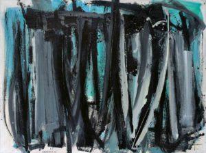 lois frederick - peinture huile sans titre 1960