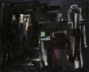 lois frederick - peinture huile sans titre 1960 ca