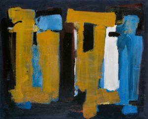 lois frederick - peinture huile sans titre 1964