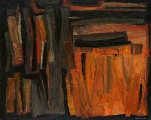 lois frederick - peinture sans titre 1955 1956