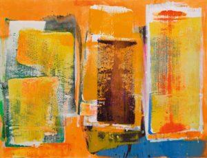 lois frederick - peinture sans titre 1980 acrylique