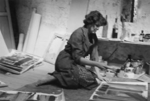 lois frederick - portrait atelier audigiers france 1970