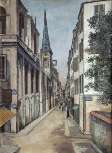 maurice utrillo - painting rue de saint louis 1918