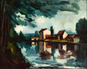 maurice vlaminck - painting bords de seine 1911 ca