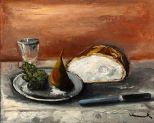 maurice vlaminck - painting nature morte au pain 1927