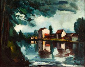 maurice vlaminck - peinture bords de seine 1911 ca