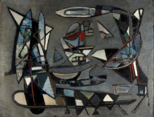nicolas de stael - composition sur fond gris 1943 newsletter art comes to you 18